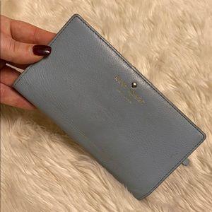 Kate Spade light blue wallet periwinkle